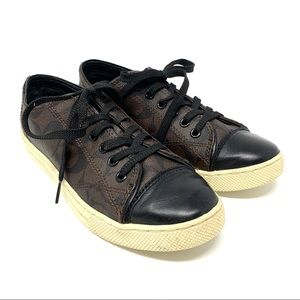 Coach Parkway Coated Canvas Signature Sneakers